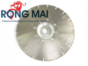 Electroplated Diamond Segment Cutting Saw Blade with Flange (RM002)