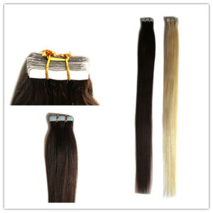 Wholesale Price Cheap Human Remy Hair Taped Hair Extensions on Sale pictures & photos