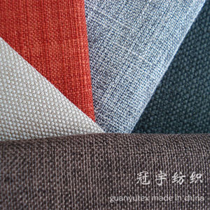 Synthetic Polyester Linen Fabric for Decoration pictures & photos