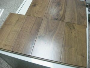 American Walnut Bronze Color Solid Wood Flooring pictures & photos