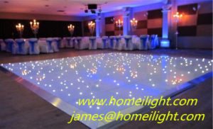 Hot Sale Black Surface LED Floor with Starlit Light Effect pictures & photos