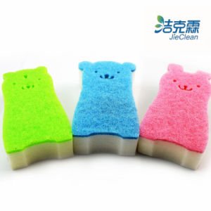 Bear Shape Scouring Melamine Pad pictures & photos