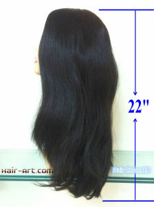 "100% Human Hair Top Hand Injected Sheitels Kosher Wigs-22"" pictures & photos"