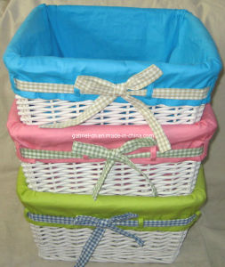 White Color Wicker Basket (FM9N03)