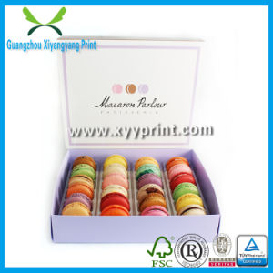 Custom Macarons Cake Paper Box with Clear Window pictures & photos