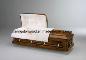 American Style Solid Pine Casket (Woodland)