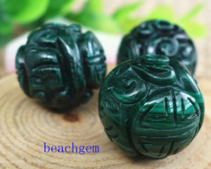 Natural Malachite Carved Dragon Shape Beads pictures & photos