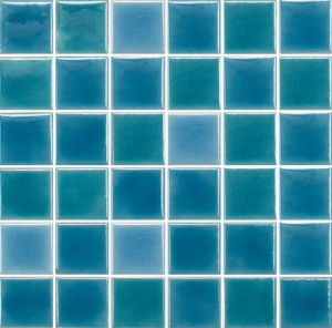 Blue Color Swimming Pool Porcelain Mosaic Tiles (C648009) pictures & photos