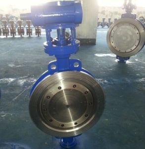 ANSI/ASTM Wcb Wafer Type Butterfly Valve with Gear Operated D373h-150lb pictures & photos