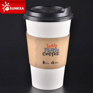 Single Wall Paper Coffee Cup with Lid and Sleeve pictures & photos