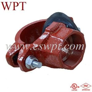 Ductile Cast Iron Grooved Fittings Mechanical Tee Threaded