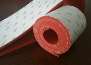 Silicone Sponges Rubber Sheet with 3m Adhesive (3A1002) pictures & photos