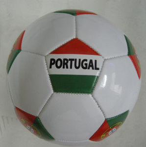Portugal Country Flag Soccerball Football pictures & photos