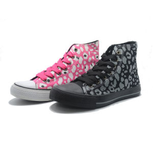 Pattern Canvas Basic Classical Bandage Ladies Sneakers Men High Shoes pictures & photos