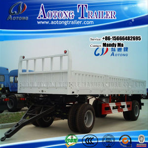 2 Axles Drawbar Trailer, Full Trailer with Side Boards pictures & photos