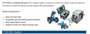 Pipe/ Drain Inspection Crawler with Pan / Tilt Inspection Camera for 100mm --1500mm Pipelines pictures & photos