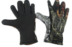 Neoprene Camo Gloves for Fishing and Hunting (HX-G0016) pictures & photos