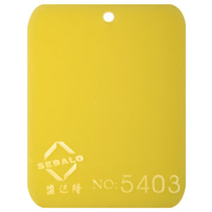 Good Material Yellow Cast Acrylic Sheet (SDL-5403) pictures & photos