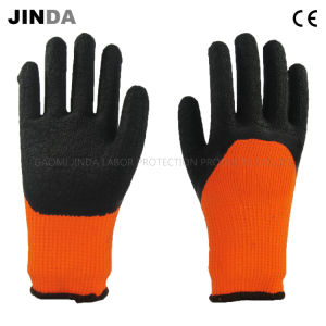 Terry Yarn Liner Latex Crinkle Coated Labor Protective Working Gloves (LH702) pictures & photos