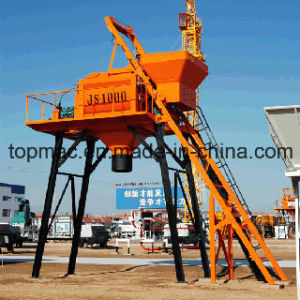 Js1000 Twin Shaft Stationary Electric Mini Concrete Beton Mixer Price pictures & photos