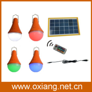 15 Colours DC Solar Lamp with 3W Solar Panel pictures & photos