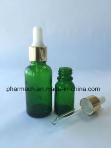 Green Essential Oil Glass Bottle Dropper Pipette Aluminum Cap pictures & photos