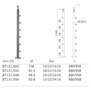 Fashion Style Stainless Steel Baluster Post (BT131) pictures & photos