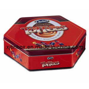 Top Quality Irregular- Shaped Candy Tin Box, Irregular Gift Tin Box (XJ-013E)