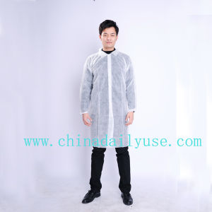 Protective Disposable Non Woven Lab Coat Workwear Medical Use pictures & photos