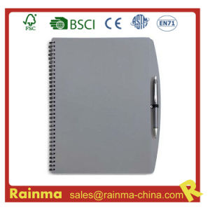 Gery PVC Cover Notebook for School and Office Supply pictures & photos