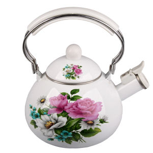 Enamel Teapot with Whistle pictures & photos
