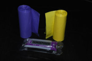 HDPE Plastic Star Seal Trash Bag on Roll pictures & photos