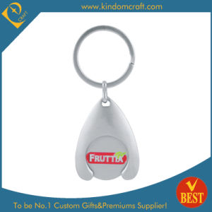 China Custom Wholesale Metal Trolley Coin Key Chain pictures & photos