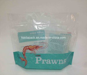 Plastic Printed Stand up Prawn Packaging Bag with Window pictures & photos