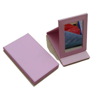 Lady PU Leather Makeup Compact Mirror for Promotion (B2008) pictures & photos