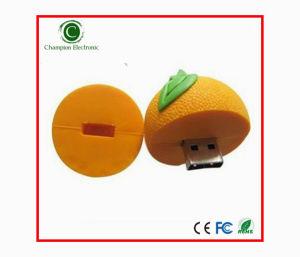 3D Orange Fruit PVC USB Flash Disk USB Pen Drive Flash Memory