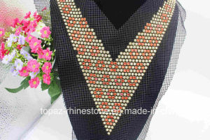 Elegant Rhinestone Appliques Necklace Glass Rhinestone Neckline Sewing Trimmings (TA-014) pictures & photos