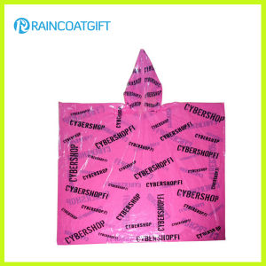 Disposable Cheap Allover Printing PE Rain Poncho pictures & photos