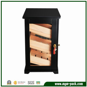 Luxury Black Wooden Cigar Humidor Cabinet pictures & photos