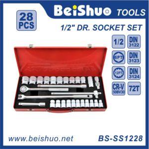 "28PCS 1/2"" Metal Box Chrome Vanadium Socket Set pictures & photos"