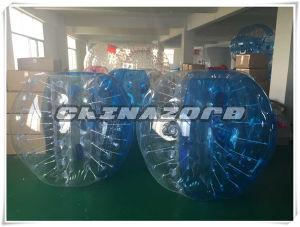 Half Blue Soccer Bubble Ball for Sale