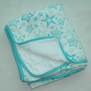 100% Cotton Soft Muslin Baby Blanket CB-Cm15011 pictures & photos