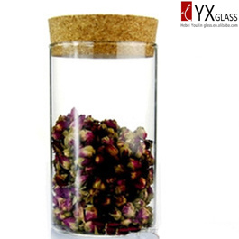 350ml Glass Storage with Wood Cap/Glass Canister/Glass Tea Leaves Tin/Glass Container/Glass Storage Jar pictures & photos