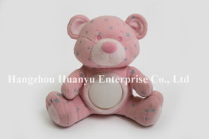 Factory Supply Baby Evening Light Pink Star Bear Toy pictures & photos