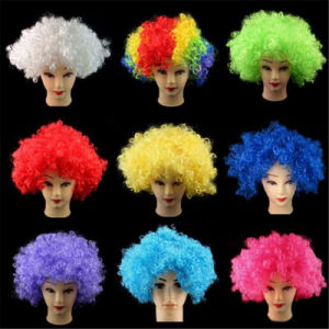Curly Colorful Clown Wigs Th020