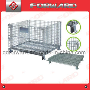 Galvanized Foldable Warehouse Storage Wire Container pictures & photos