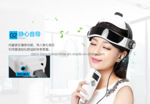 Acupoint Hot Compress, Vibration, Music, Remote Control Head Massager pictures & photos