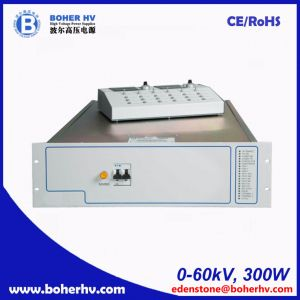 High power supply 60kV 300W for general purpose LAS-230VAC-P300-60K-2U pictures & photos