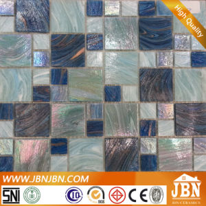 Mix Size Blue Color Household Stone Mosaic Tile (H455002) pictures & photos