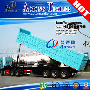 3 Axles Hydraulic Ending Tipper Semi Trailer (20-100ton optional) pictures & photos